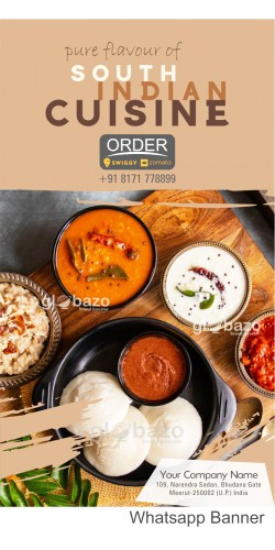 Pure Flavour of South Indian Cuisine Idli with Sambhar and Variety of Chatni