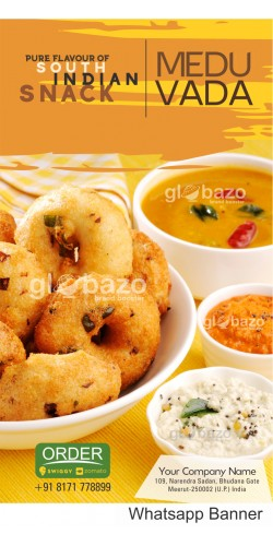 Pure Flavour of South Indian Snacks Medu Vada with Sambhar and Variety of Chatni
