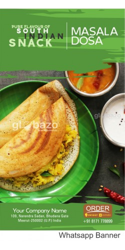 Pure Flavour of South Indian Snacks Masala Dosa with Sambhar and coconut Chatni